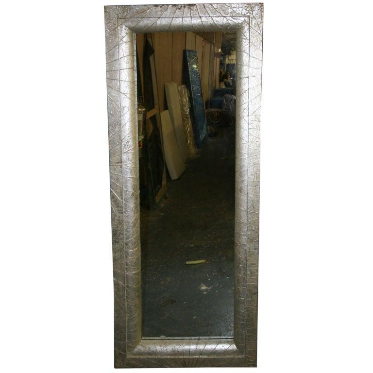 Botanical Inspired Sliver -Leafed Full Size Mirror For -1029