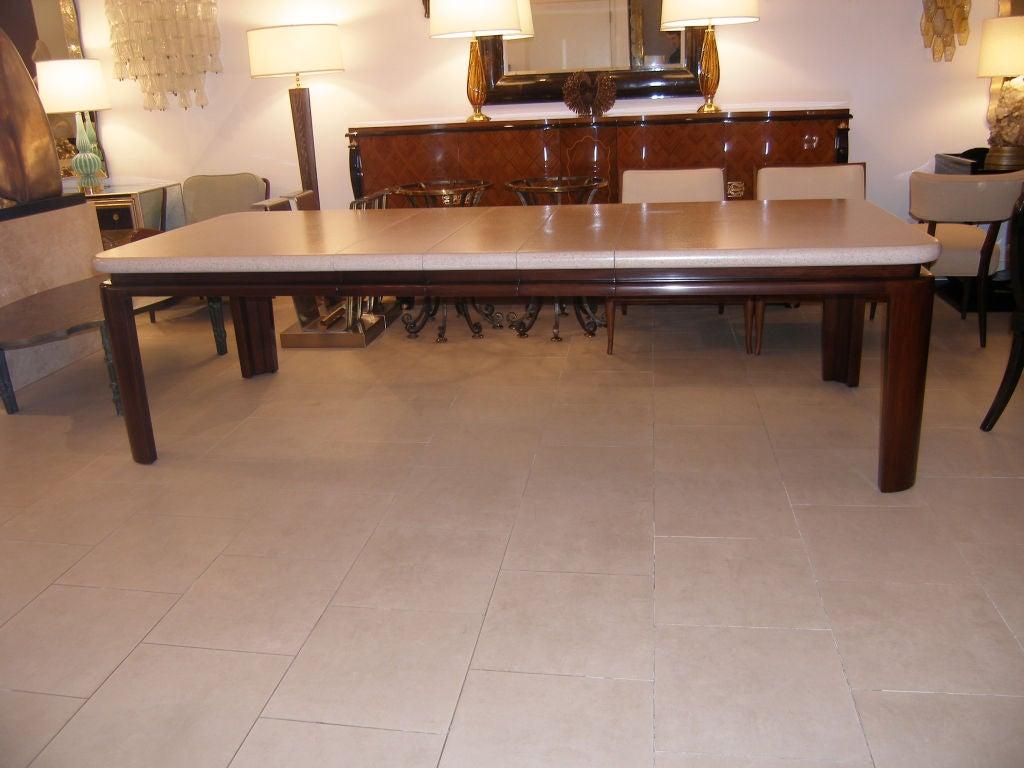 Paul Frankl Cork Top Mahogany Dining Table At 1stdibs