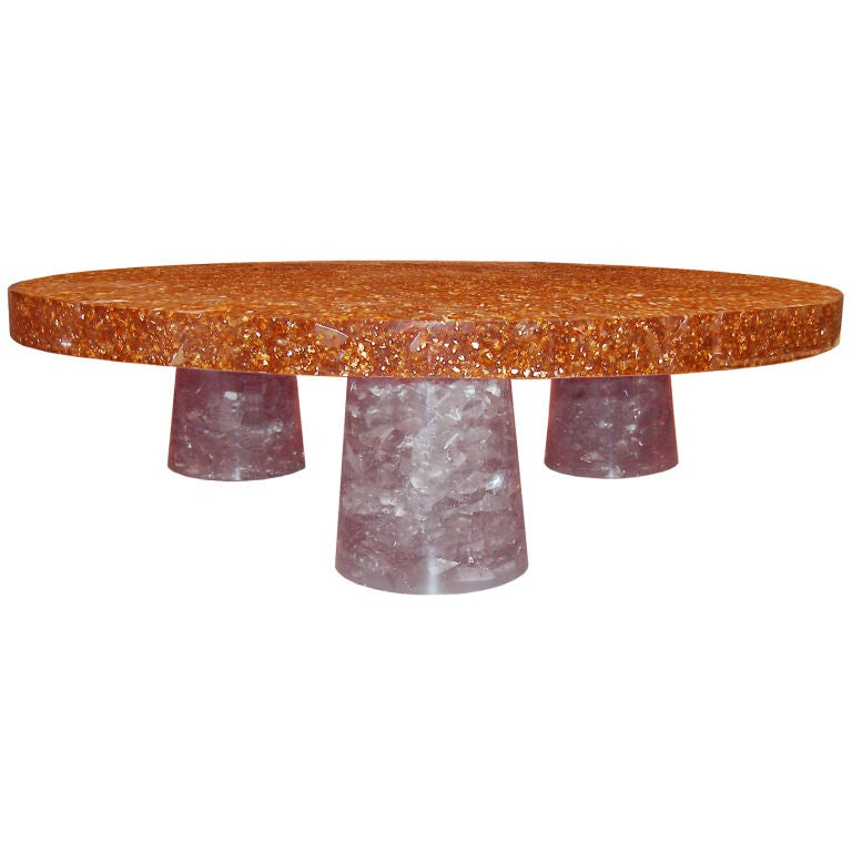 Jean Brand Resin Coffee Table At 1stdibs