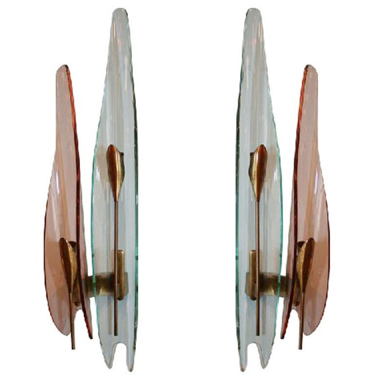 pair of documented max ingrand for fontana arte sconces at 1stdibs. Black Bedroom Furniture Sets. Home Design Ideas