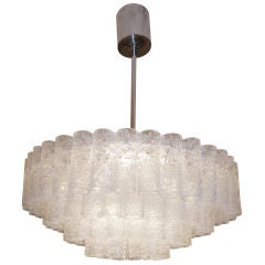 De Majo 4 Tiered Tubular Glass Chandelier