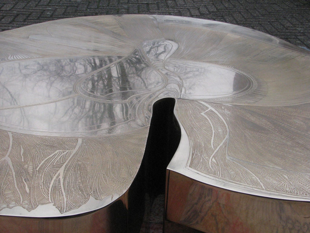 Signed Armand Jonckers Etched Bronze Coffee Table 5