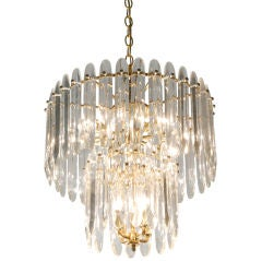 Chandelier with Large Crystals by Sciolari