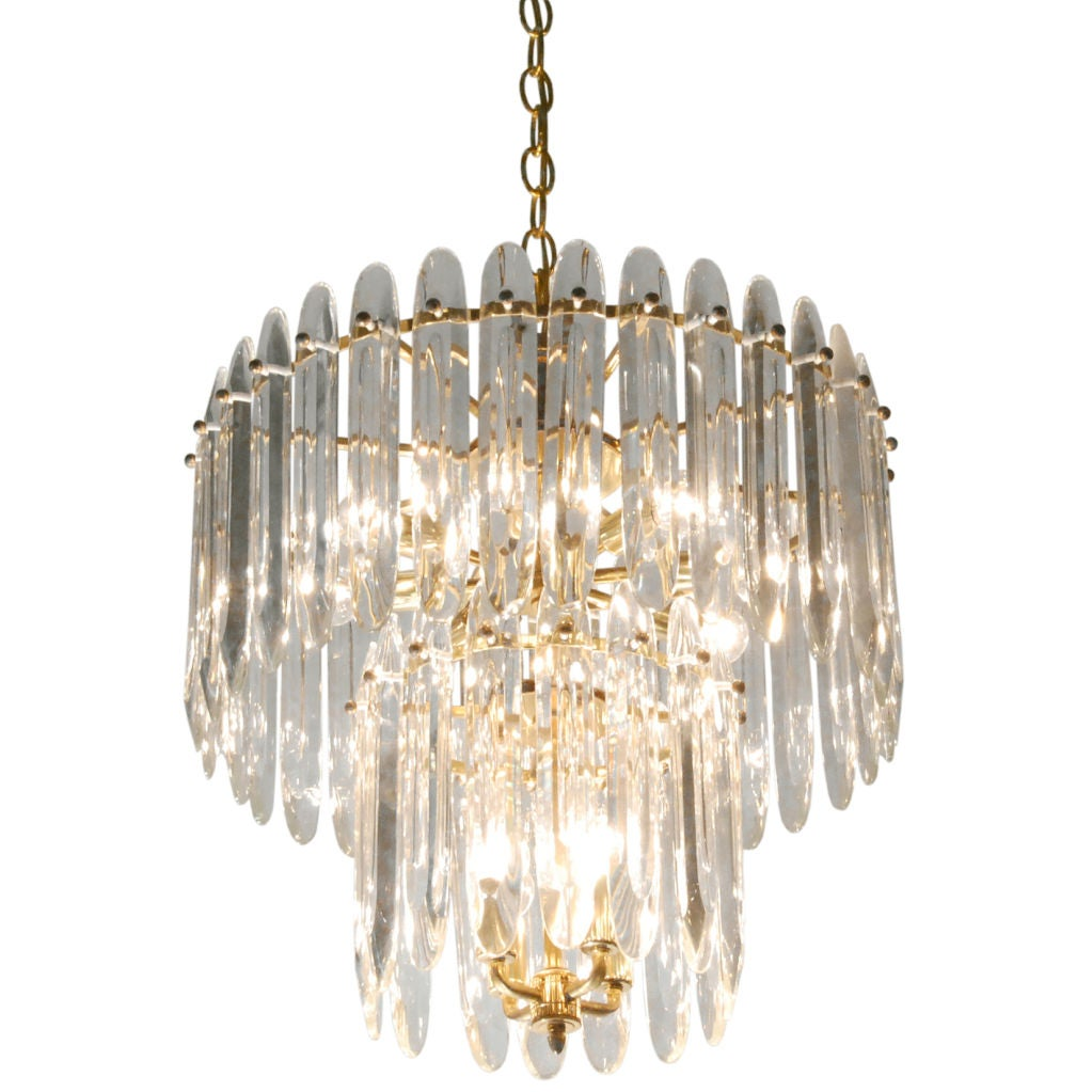 Chandelier with large crystals by sciolari for sale at 1stdibs - Chandeliers on sale online ...