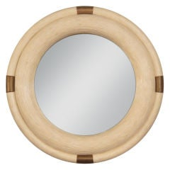 Mirror in Tessellated Bone with Bronze Accents by Enrique Garces