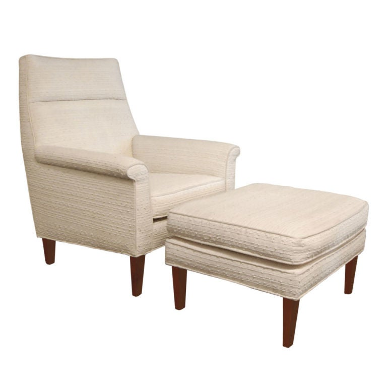 Lounge chair and matching ottoman by edward wormley at 1stdibs for Matching lounge furniture