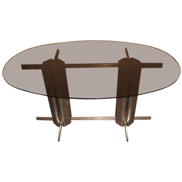 Oval St Gobain Glass Dining Table at 1stdibs : XXXimg0024 from 1stdibs.com size 768 x 768 jpeg 23kB