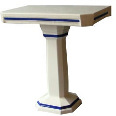 French Art Deco Enameled Ceramic Console