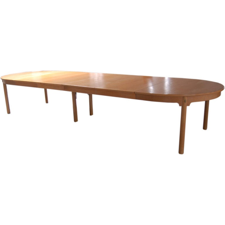 Massive dining conference table by borge mogensen seats for Dining table to seat 20