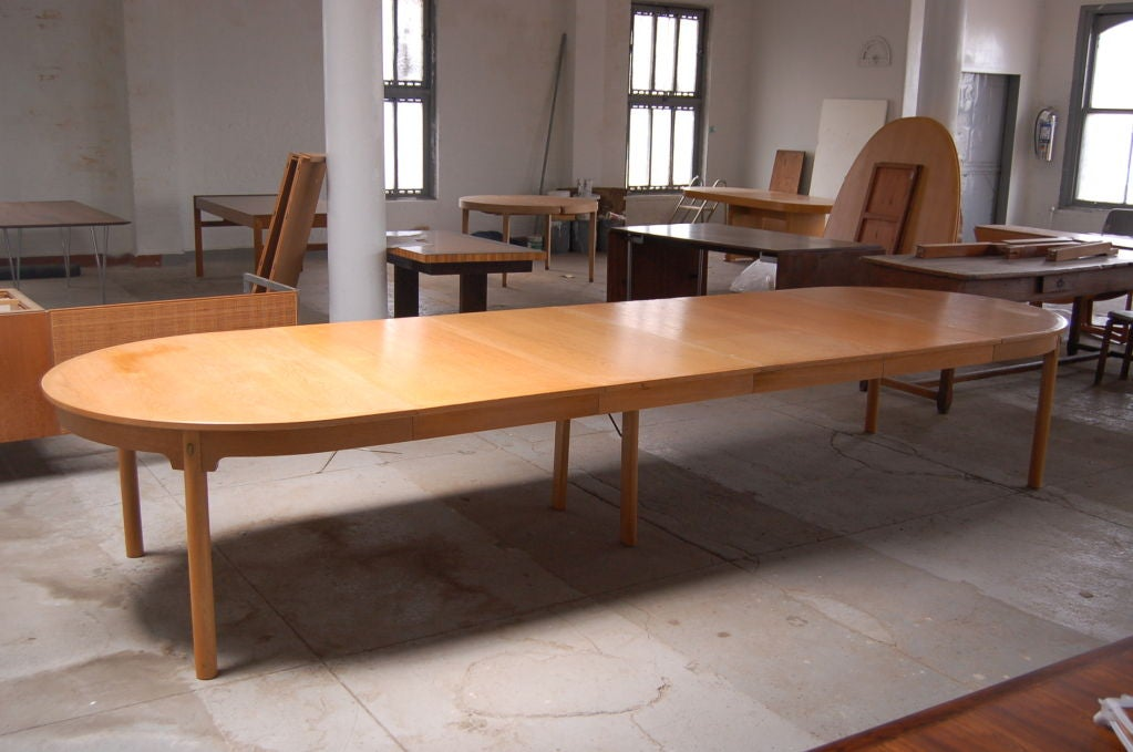 Massive dining conference table by borge mogensen seats for Dining room tables seat 16