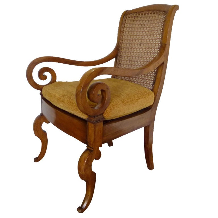 Set Of Four Anglo Indian Mahogany Armchairs At 1stdibs