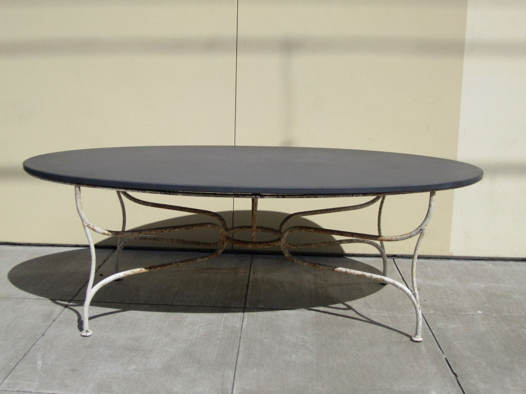 oval french slate top dining table at 1stdibs