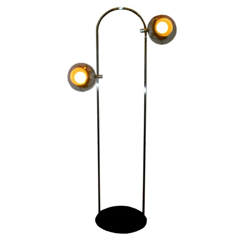 Rare Robert Sonneman Directional Eyeball Floor Lamp For Sale at ...