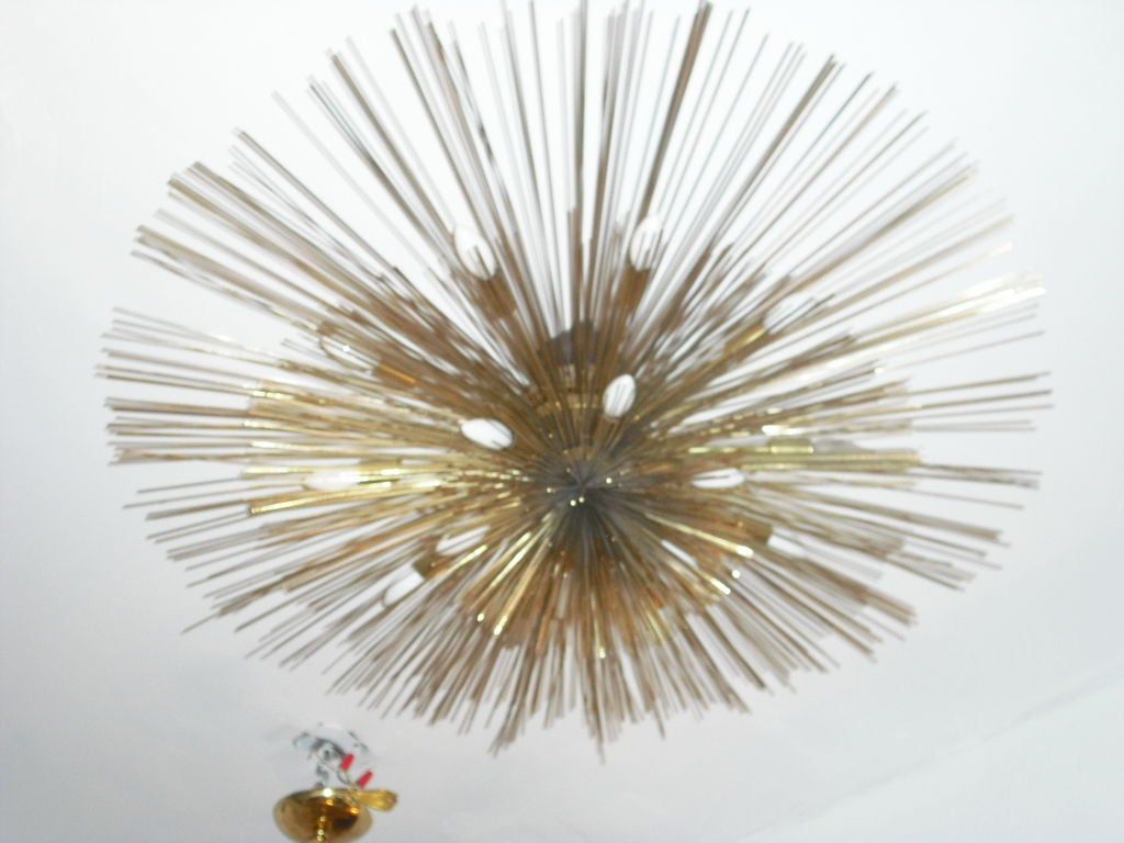 "Grand ""Nest"" Light Sculpture Flush Chandeliers, Mid-Century Mdern For Sale 2"