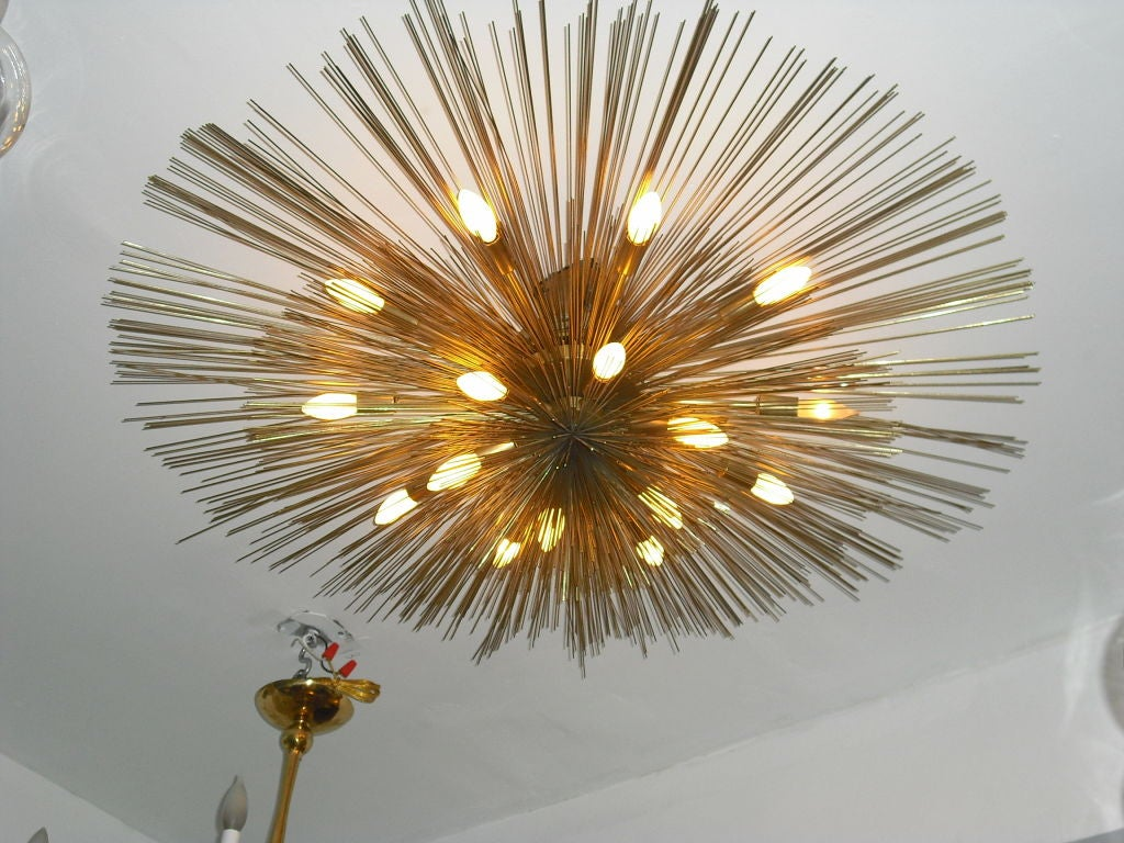 "Grand ""Nest"" Light Sculpture Flush Chandeliers, Mid-Century Mdern In Excellent Condition For Sale In New York, NY"