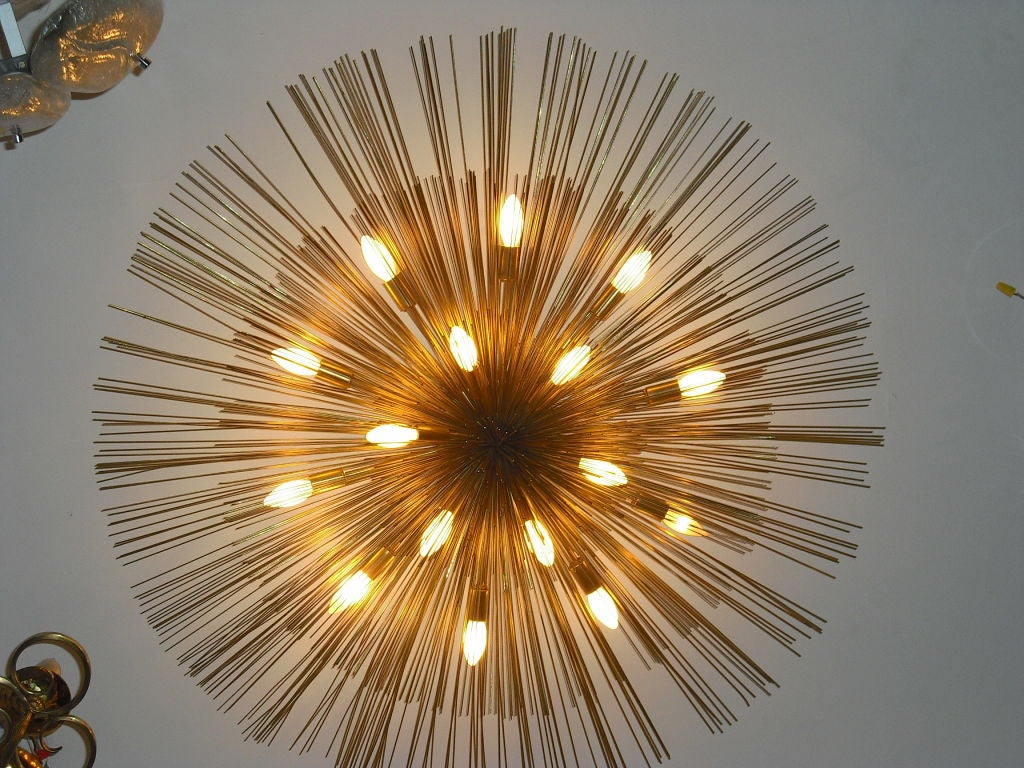 "Grand ""Nest"" Light Sculpture Flush Chandeliers, Mid-Century Mdern For Sale 3"