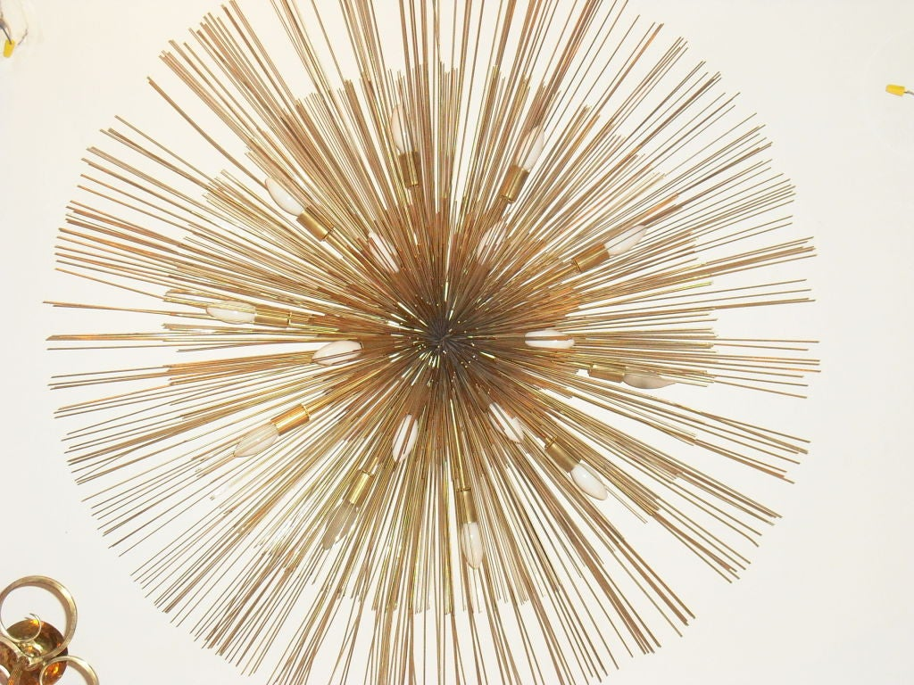 "Grand ""Nest"" Light Sculpture Flush Chandeliers, Mid-Century Mdern 3"