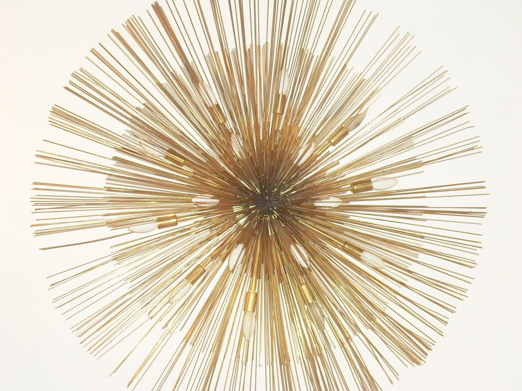 "Mid-20th Century  Grand ""Nest"" Light Sculpture Flush Chandeliers, Mid-Century Mdern For Sale"