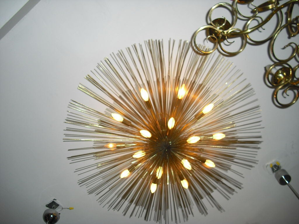 "American  Grand ""Nest"" Light Sculpture Flush Chandeliers, Mid-Century Mdern For Sale"
