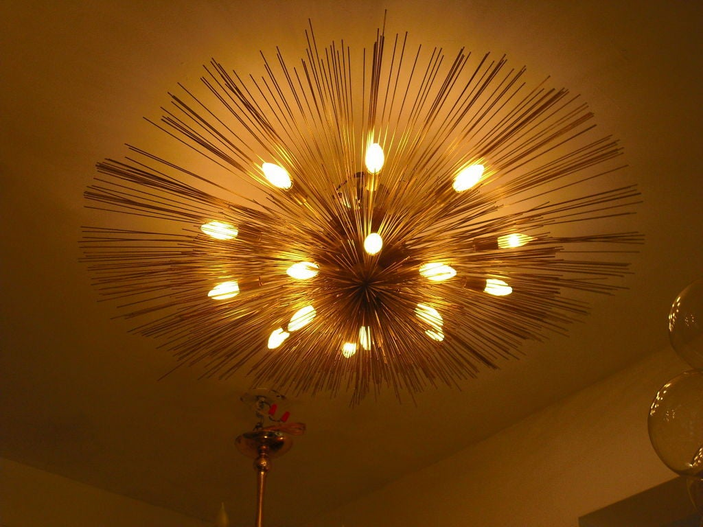 "Grand ""Nest"" Light Sculpture Flush Chandeliers, Mid-Century Mdern 7"