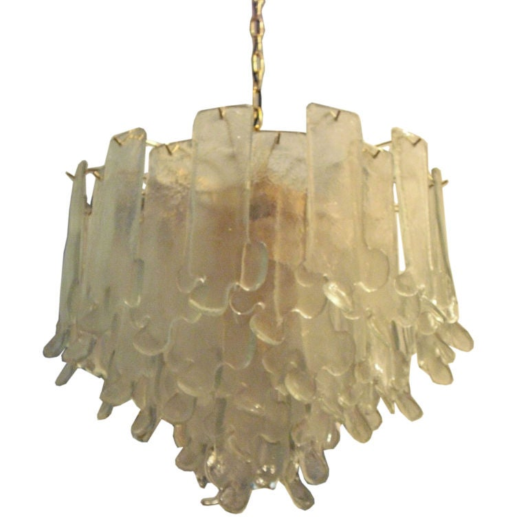 Barbini hand blown glass chandelier at 1stdibs Blown glass chandelier