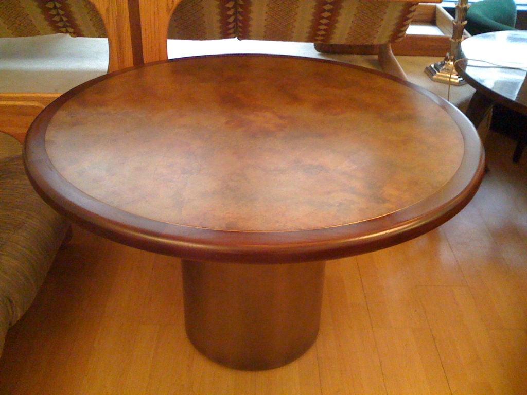 Harry Lunstead Copper Dining Table 2