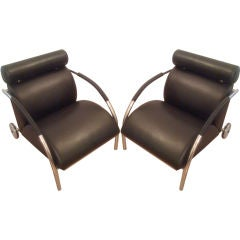 Pair of Peter Maly Lounge Chairs