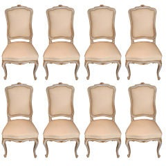 Set of 8 Painted Dining Room Chairs