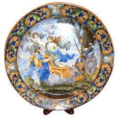 19th c. Italian Majolica Platter