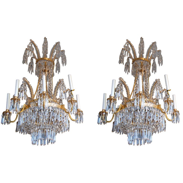 Pair of swedish chandeliers at 1stdibs pair of swedish chandeliers for sale mozeypictures Choice Image