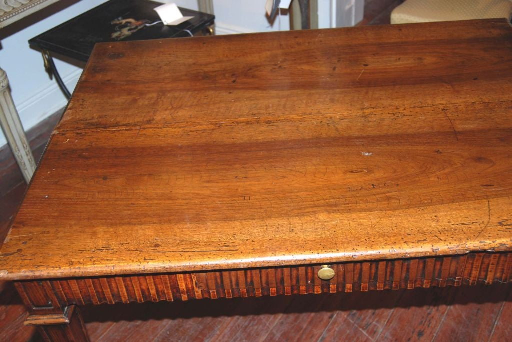 18th Century and Earlier 19th Century Walnut Writing Table For Sale