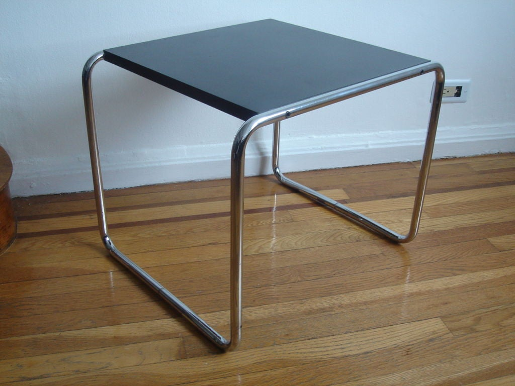 early chrome laccia table by marcel breuer for gavina at 1stdibs. Black Bedroom Furniture Sets. Home Design Ideas