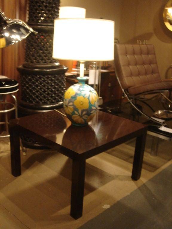 Italian Majolica Floral Table Lamp by Raymor 7