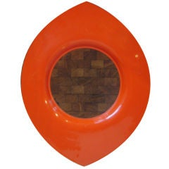 Orange Lacquered Wood Tray by Jens Quistgaard for Dansk
