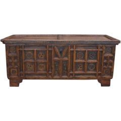 Rustic Swiss Baroque Coffer or Dowry Chest