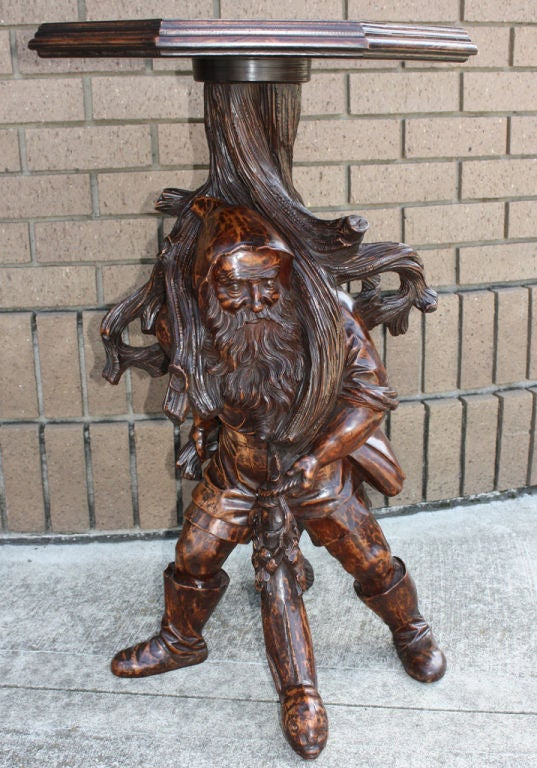 Black Forest Gnome Table For Sale At 1stdibs