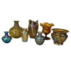 American Art Glass including Tiffany, Loetz & Lundberg Studios