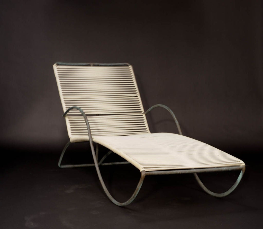 A walter lamb for brown and jordan bronze chaise lounge at for Brown and jordan chaise