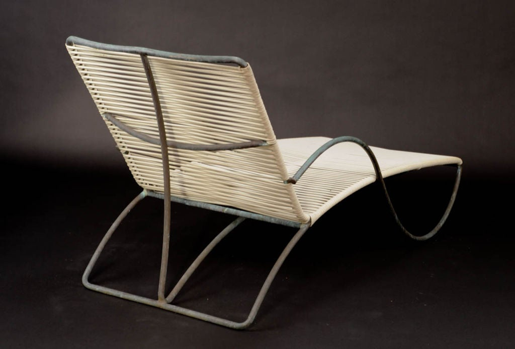 A walter lamb for brown and jordan bronze chaise lounge at for Bronze chaise lounge