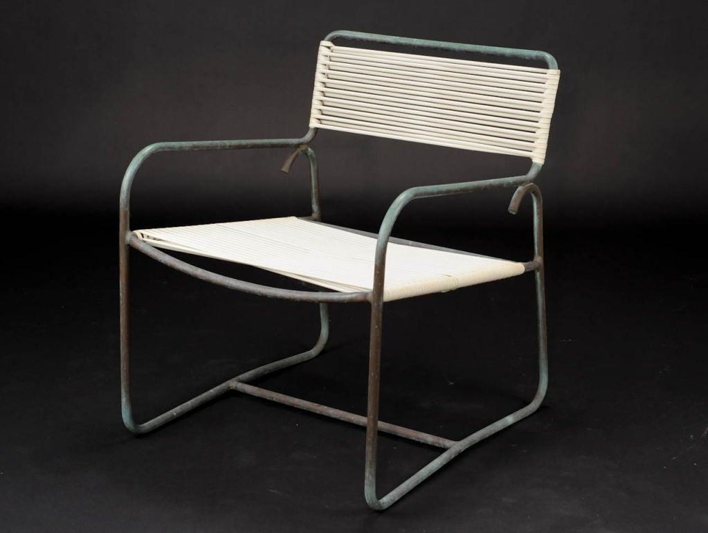 A Pair of Walter Lamb Lounge Chairs for Brown and Jordan at 1stdibs
