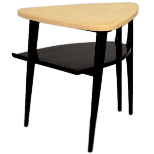 Paul Frankl Guitar Pick lamp Table For Johnson Furniture