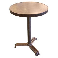 Small French Vintage Round Industrial Table