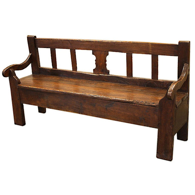 Antique French Breton Bench At 1stdibs