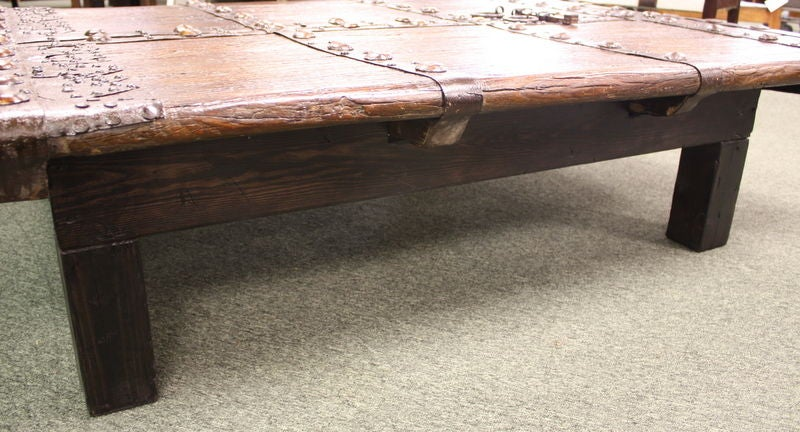 Large Low Antique Chinese Door Coffee Table At 1stdibs