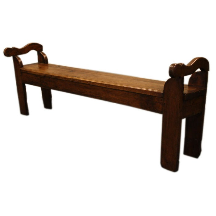 Antique French Cherry Bench At 1stdibs