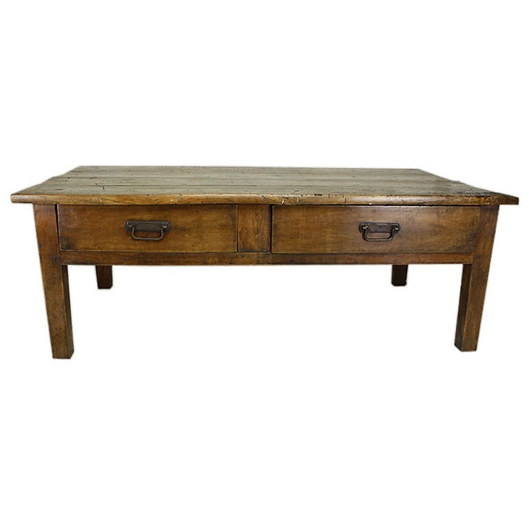 Antique French Elm Coffee Table At 1stdibs