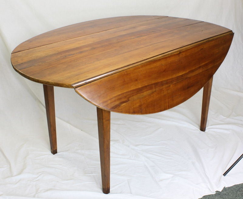 Antique french cherry drop leaf dining table for sale at for 3 leaf dining room tables