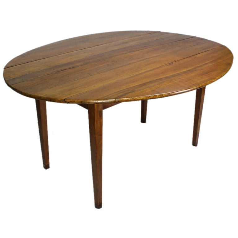 Antique french cherry drop leaf dining table for sale at for Dining room table replacement leaf