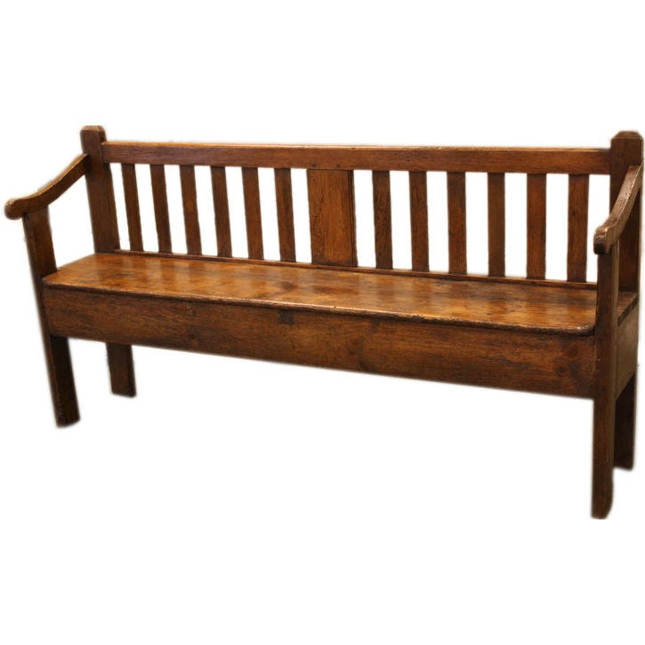 Antique Country French Pine Bench At 1stdibs