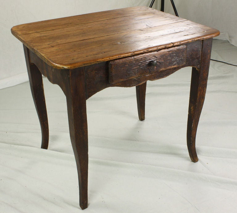 Antique French Pine Cabriole Leg Side Table At 1stdibs
